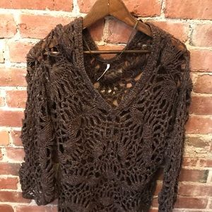 Knitted Wool Blend Oversized Free People Sweater